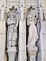 Sculptures of King David and Miriam in York Minster.jpg
