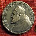 Scuola romana, medaglia di clemente VIII, 1598, arg.JPG