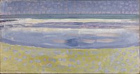 Sea after sunset, by Piet Mondriaan.jpg