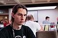 Seb35 pendant le hackaton, Wikimania 2014.jpg