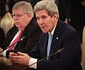 Secretary Kerry Addresses Russian Foreign Minister Lavrov at a Meeting in Moscow (23471112720).jpg