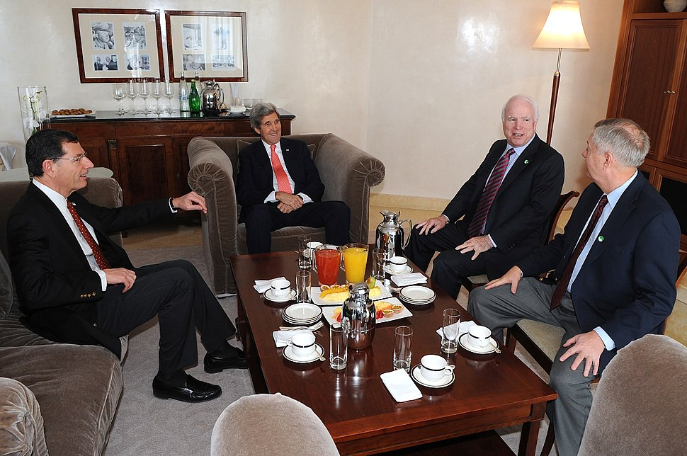 Secretary Kerry Meets With Senators McCain, Graham, Barrasso (11728192345)