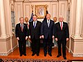 Secretary Pompeo Poses for a Photo With Advisor Bolton, President Trump and Vice President Pence (41811551572).jpg