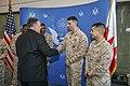 Secretary Pompeo Shakes Hands with Members of the Marine Security Guard at U.S. Embassy Manama (45979832624).jpg