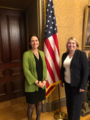 Secretary of State Karen Bradley meets Fiona Hill, Special Assistant to the President on Europe, for a detailed discussion on Brexit negotiations (45843403151).png