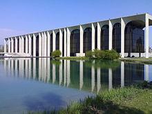 La sede della Mondadori a Segrate, progettata dall'architetto Oscar Niemeyer.