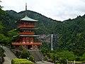 Seiganto-ji and Nachi Falls, Wakayama (16867080614).jpg