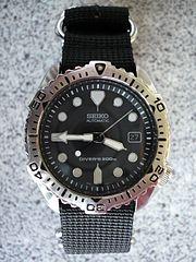 Seiko 7002-7020 Diver's 200 m on a 4-ring NATO style strap.