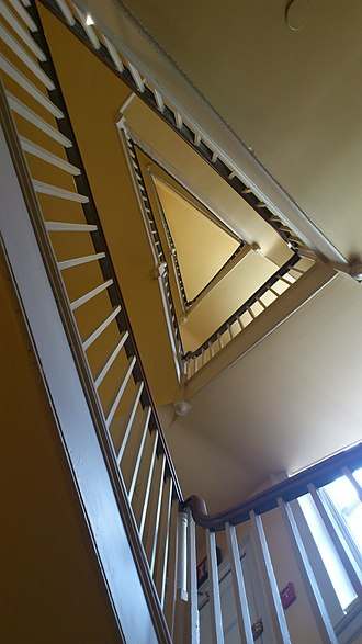 The Octagon House - Angled service stairway