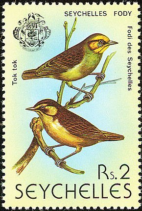Description de l'image Seychelles fody 1979 stamp.jpg.