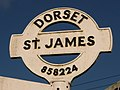 Shaftesbury, detail of St. James finger-post - geograph.org.uk - 2134027.jpg