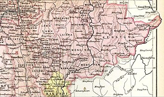 Mongnai State - Möng Nai State in an Imperial Gazetteer of India map