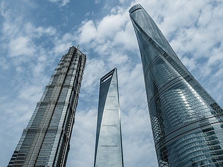Shanghai World Financial Center, Jin Mao Tower and Shanghai Tower, Lujiazui Shanghai skyscrapers 5166285.jpg