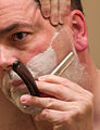 Shaving with a Wacker straight razor.jpg