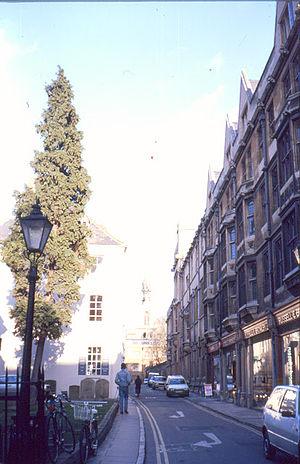 Ship Street, Oxford - View east from Cornmarket Street along Ship Street.