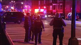 Crime in Chicago - Crime scene from a CPD shootout with an armed suspect in 2016