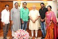 Shri Prabhas, lead actor, Bahubali, calling on the Prime Minister, Shri Narendra Modi, in New Delhi on July 26, 2015 (1).jpg