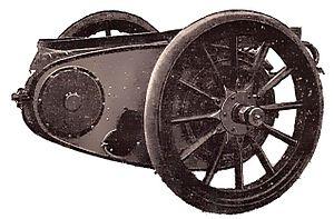Chain drive - Chain final drive, 1912 illustration