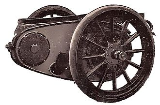 Chain drive - Chain final drive, 1912 illustration