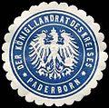 Siegelmarke Der K. Landrat des Kreises-Paderborn W0234857.jpg