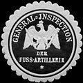 Siegelmarke General - Inspection der Fußartillerie W0238349.jpg