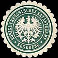 Siegelmarke Königlich Preussisches Katasteramt - Segeberg W0234570.jpg