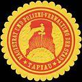 Siegelmarke Magistrat und Polizei-Verwaltung der Stadt Tapiau W0333152.jpg