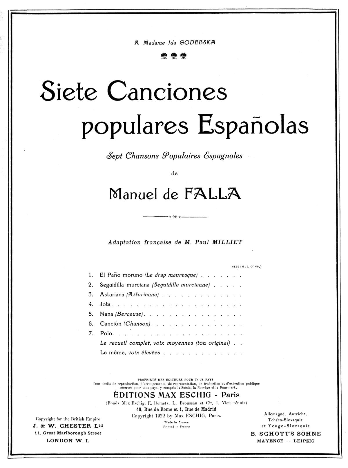 siete canciones populares españolas guitar pdf