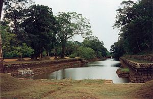 Hydraulics - Moat and gardens at Sigiriya.