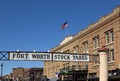Sign at the entrance to the Stockyards, a historic livestock-market district in Fort Worth, Texas LCCN2013650796.tif