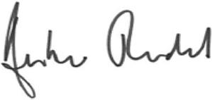Amber Rudd - Image: Signature of Amber Rudd