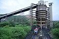 Silo rake loading at NCL Amlohri Coal Mine at Singrauli.jpg