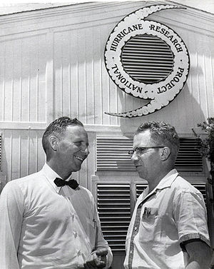 Robert Simpson (meteorologist) - Simpson on left