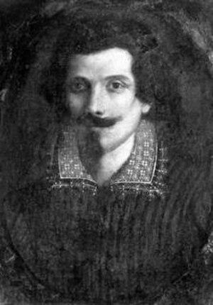 Sinibaldo Scorza - Self-Portrait, in the Vasari Corridor of the Uffizi Gallery.