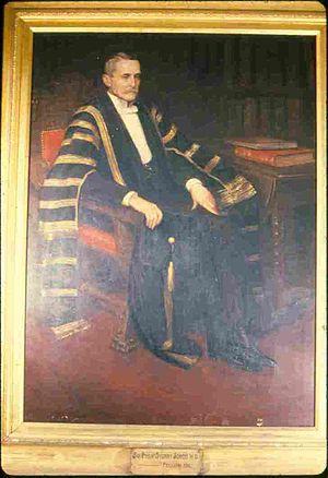 Philip Sydney Jones - Sir Philip Sydney Jones as Vice-Chancellor of the University of Sydney.  1895 portrait by Percy Spence.