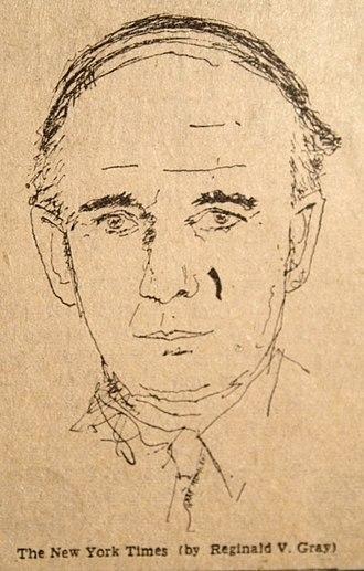 Bernard Lovell - Portrait by Reginald Gray, 1966, for the New York Times