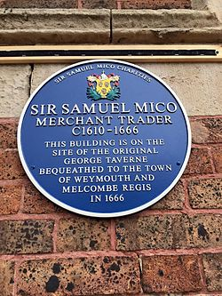 Photo of Samuel Mico blue plaque