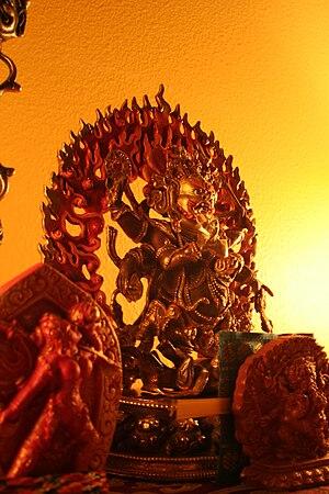 Mahākāla - Image: Six arm mahakala