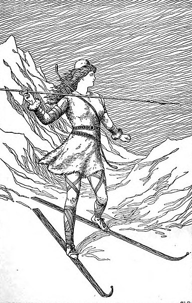 File:Skadi Hunting in the Mountains by H. L. M.jpg