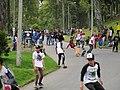 Skateboarding en el parque nacional con caída.JPG