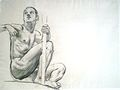 Sketch of figure beneath Painting for Architecture, Painting, and Sculpture.JPG