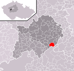Location of Skuhrov in the Czech Republic