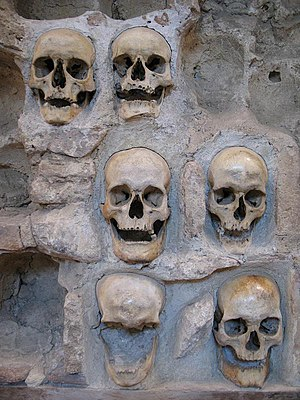 History of Niš - A wall of the Skull Tower a unique monument in Europe.