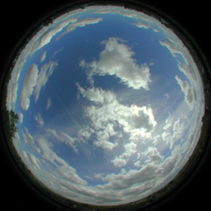 Skybox (video games) - Example of a texture for a hemispherical skydome