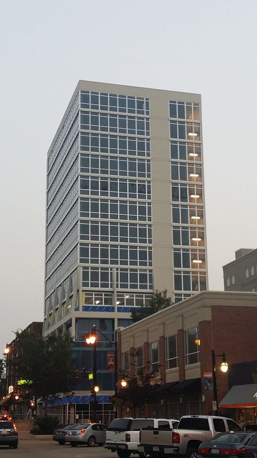 South facing view of Skyline Tower