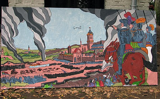 Slag om Grolle 2008 - Schilderij gemaakt door jeugdige bezoekers