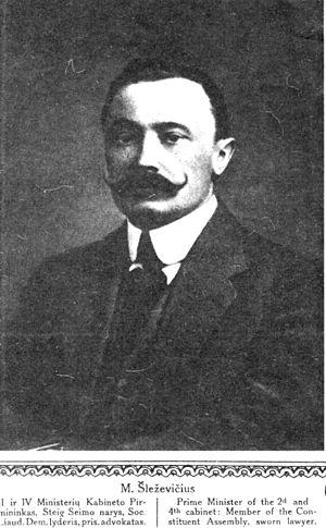 Prime Minister of Lithuania - Image: Sleževičius Mykolas