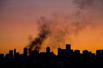 2011 Vancouver Stanley Cup riot - Image: Smoke Over Vancouver