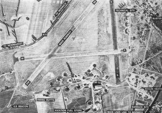 Snetterton Circuit - photograph of WW2 Airfield