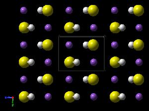 Sodium hydrosulfide - Image: Sodium hydrosulfide LT xtal 1991 CM 3D balls